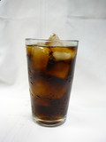 glass of soda poster