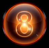 number eight icon.