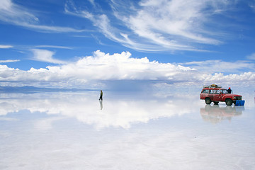 adventure on the bolivian salt-flats