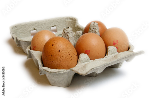 Carton of half dozen eggs