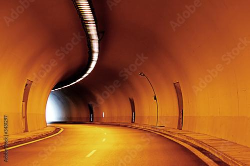 through a tunnel