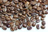 grains of coffee. poster