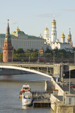 moscow river and kremlin poster