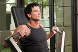 man exercising arm muscles 6 poster