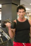 man lifting weights 2 poster