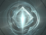 shiny diamond and water ripples poster