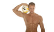 athletic man with ball