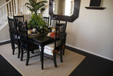 Dining Table and Hardwood Flooring poster