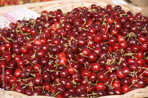 cherries at the market, june