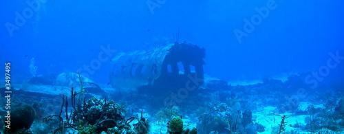 Papiers peints Recifs coralliens underwater airplane
