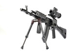 machine gun kalashnikov on the tripod and optical