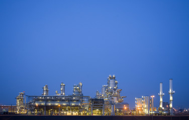 refinery at night 3