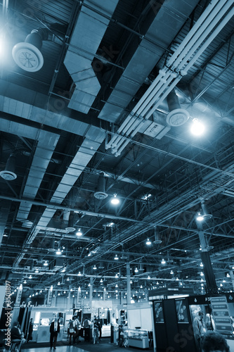 huge industrial space hosting a trade show