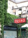 paris, métro, saint germain des prés
