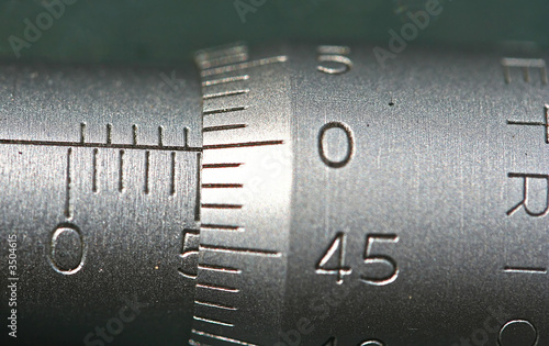 Leinwandbild Motiv metric micrometer