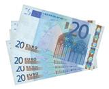 four euro banknotes poster