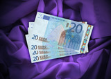 four euro banknotes #2 poster