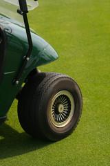 front wheel of golf cart