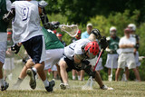 lacrosse game face off poster