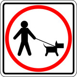 dog walk permitted sign