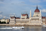 budapest parliament and danube poster