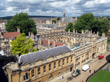 oxford university, aerial view poster