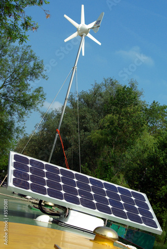 Photovoltaic panel and wind turbine