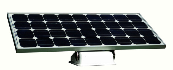 Photovoltaic pannel on white background