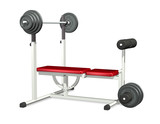 weightlifting power bench poster