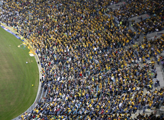 crowd at the stadium