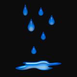 raindrops 3d poster