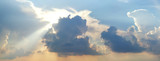 Dramatic strorm clouds poster