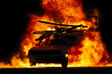 Fototapety car and fire