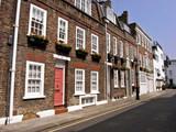 quiet london street, knightsbridge, london poster