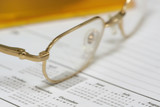 golden eye glasses poster