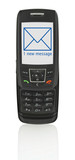 mobile phone with sms poster