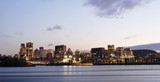 montreal, canada by night from ile ste-helene poster