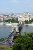 Chain Bridge and Basilica, Budapest poster