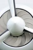 white plane propeller poster