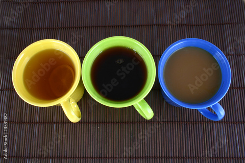 color mug (with tea and coffee)