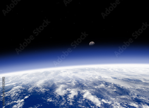 horizon terrien vu de l'espace