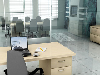 office in the morning