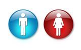 2 aqua buttons  poster
