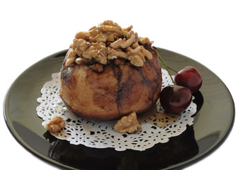 sticky bun with cherries 2