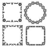 Four retro style decorative vector filigree frames poster