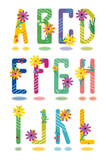 Spring alphabet full set letters A - L poster