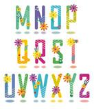 Spring or summer alphabet full set letters M - Z poster