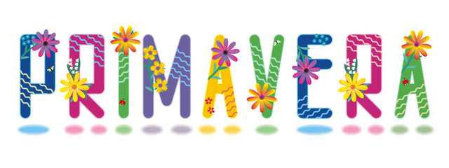 Primavera beautiful letters spring alphabet mini set