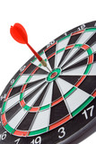 darts over white backgroubds poster