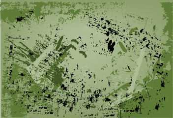 Abstract, grunge style vector background in green tones
